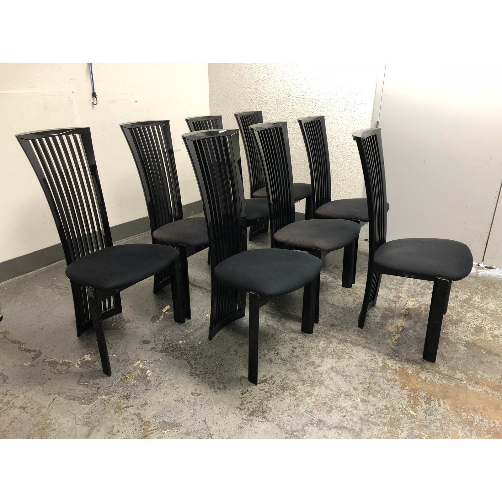 Pietro Costantini For Ello Furniture Black Dining Chairs Set Of Eight For  Sale At Stdibs Jpg