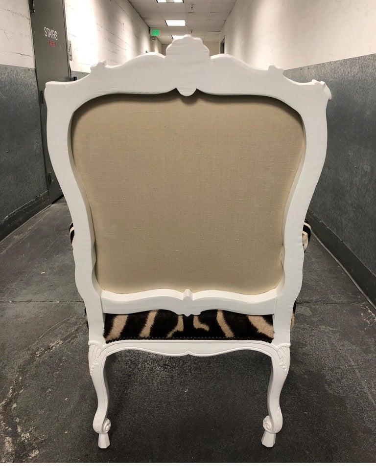 Contemporary Ebanista Jesi South African Hide Armchair For Sale