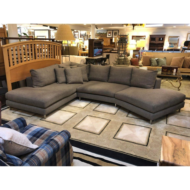 Room Board Hayes Custom Left Back Angled Sectional Sofa In Good Condition For