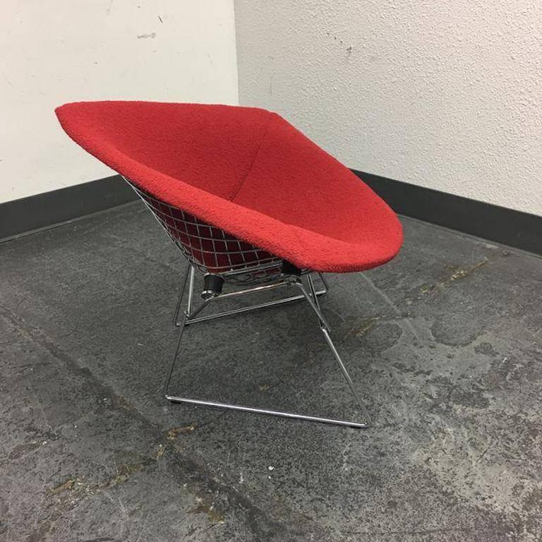 harry bertoia large red diamond chair for knoll at 1stdibs. Black Bedroom Furniture Sets. Home Design Ideas