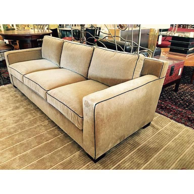 American Classical Ralph Lauren Mohair Graham Sofa For Sale