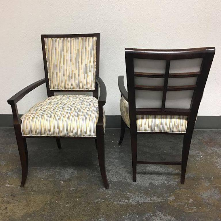 American Pair Of Hickory Chair Co. Nicole Armchairs For Sale