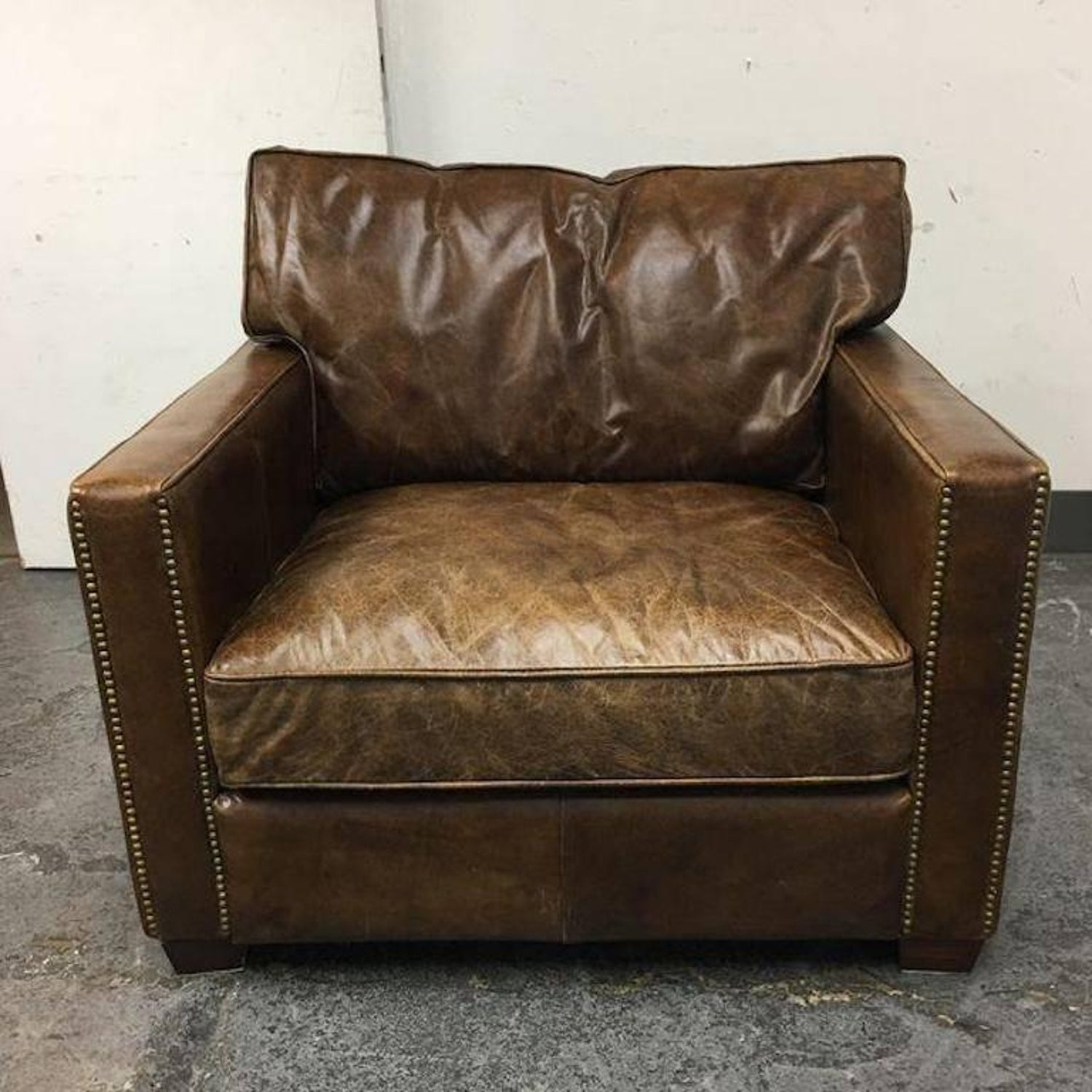 Pleasing Four Hands Hemingway Chair In Cigar Leather At 1Stdibs Unemploymentrelief Wooden Chair Designs For Living Room Unemploymentrelieforg