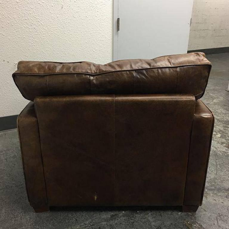 Four Hands Hemingway Chair In Cigar Leather For Sale 1