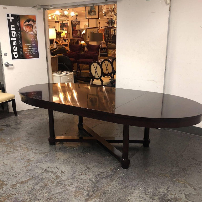 Barbara Barry Oval Table For Baker At 1stdibs