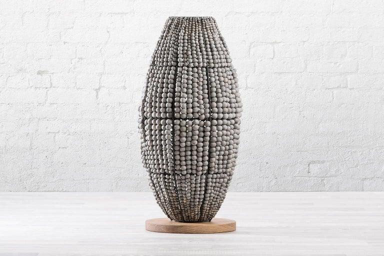 Beaded klaylife ombre handmade clay beaded floor lamp, 21st Century For Sale