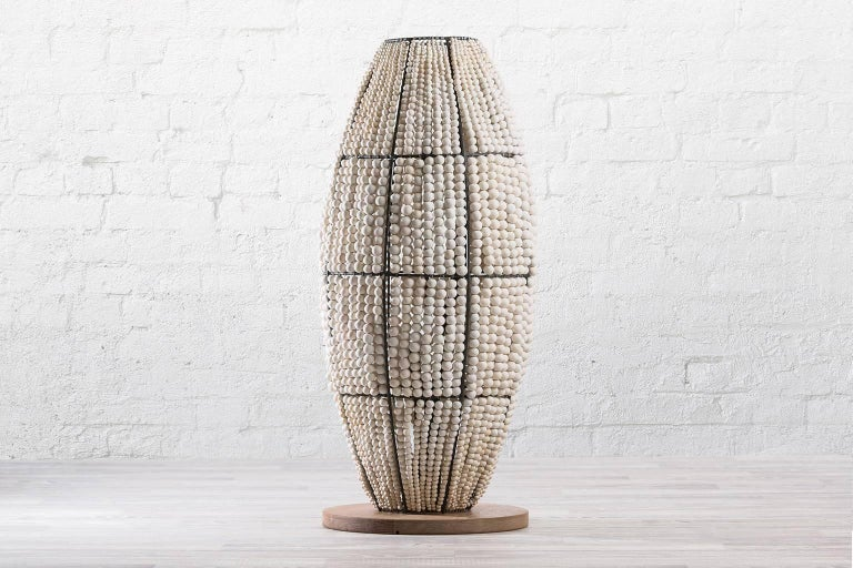 klaylife ombre handmade clay beaded floor lamp, 21st Century In Excellent Condition For Sale In Brighton, Victoria