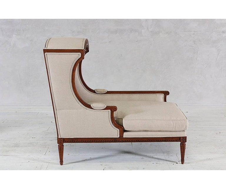 Louis xvi style chaise with canopy for sale at 1stdibs for Chaise louis xvi