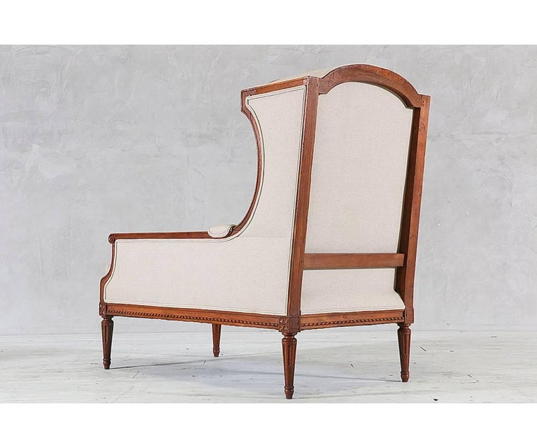 louis xvi style chaise with canopy for sale at 1stdibs. Black Bedroom Furniture Sets. Home Design Ideas