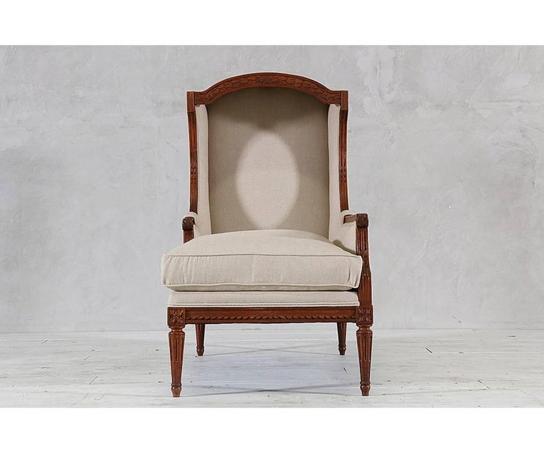 Louis xvi style chaise with canopy for sale at 1stdibs - Chaise style louis xvi moderne ...