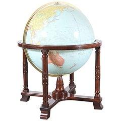 "Antique ""Diplomat"" Illuminated Globe by Replogle Globes"