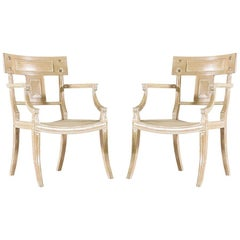Pair of Klismos Armchairs by Michael Taylor
