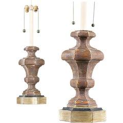 Italian Silver Gilt Lamps by Marbro