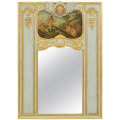 French, 1920s Trumeau Mirror