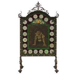 French Iron Fire Screen