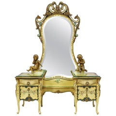 Venetian, 1920s Painted Vanity