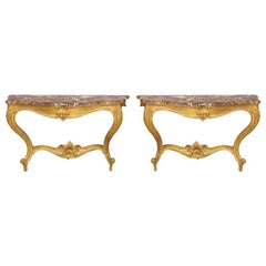 Pair of Early 20th Century Italian Console Tables