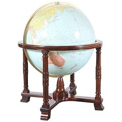"Antique ""Diplomat"" Illuminated Globe by Replogle Globes"