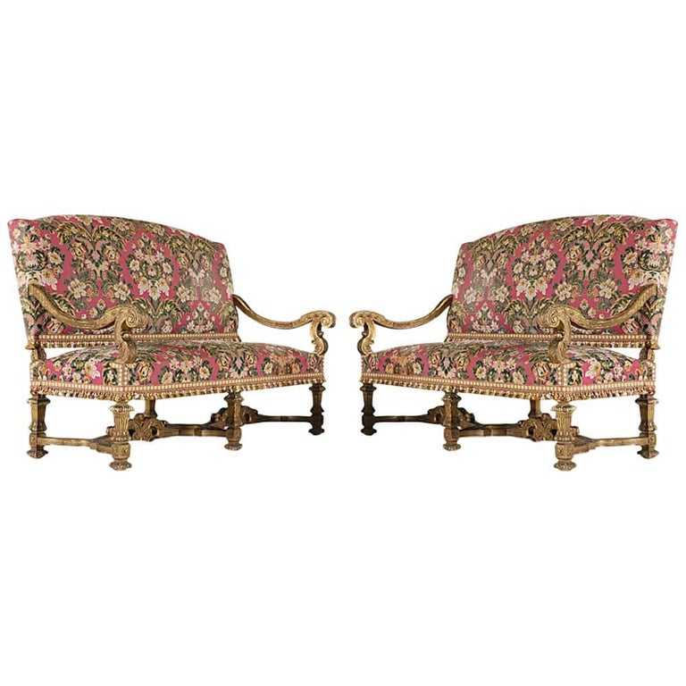 French Baroque Settees For Sale