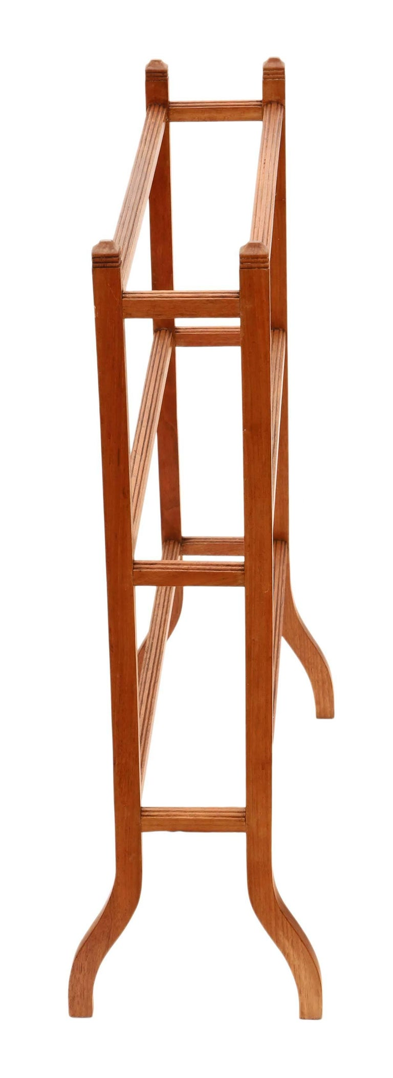 Antique Quality Victorian Circa 1900 Light Mahogany Towel Rail Stand For Sale At 1stdibs