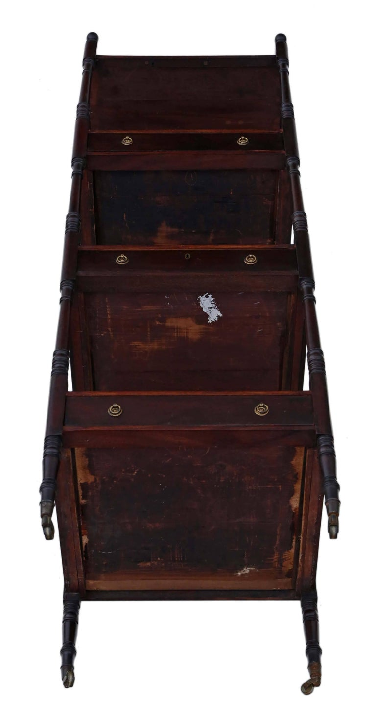 antique 19th century mahogany display dumb waiter buffet serving table for sale at 1stdibs. Black Bedroom Furniture Sets. Home Design Ideas