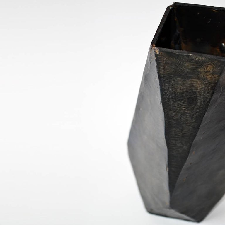 Collection of Modern Geometric Vessels Handmade by J.M. Szymanski, made in NYC For Sale 1