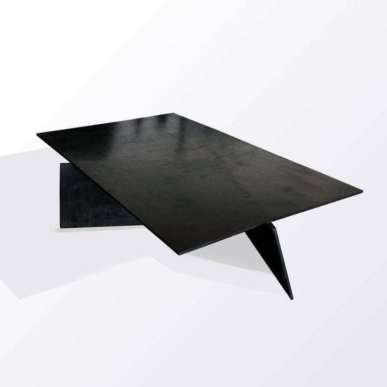 Table No. 10 Blackened and waxed Steel Dated 2017 Size: 45