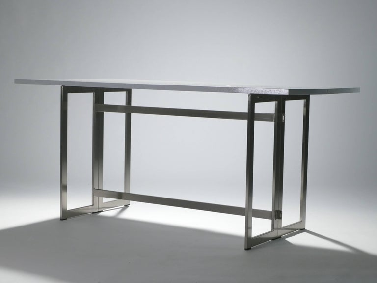 Mid-Century Modern Artelano Italian White Lacquer Console Table For Sale