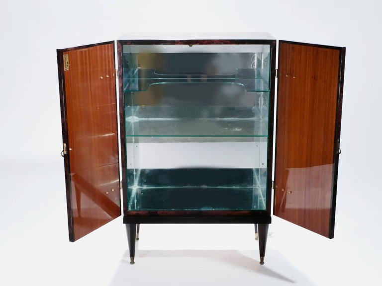 Bar Cabinet in Goatskin Parchment by Aldo Tura, 1960s For Sale 1