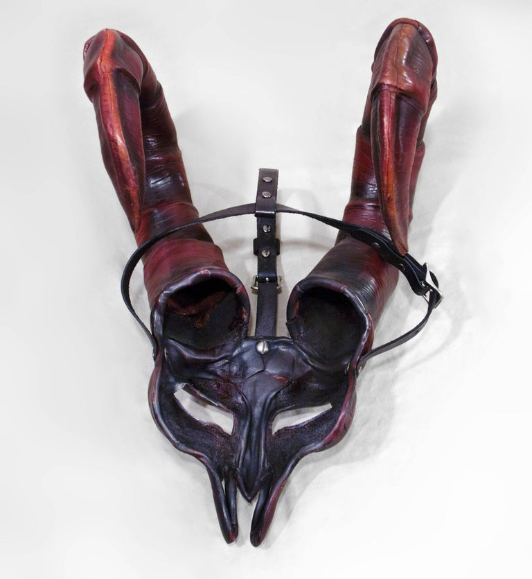 Horned Leather Mask 7