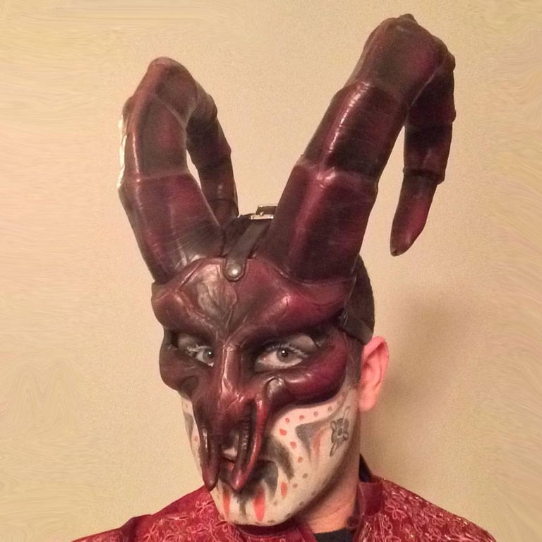 Horned Leather Mask 8