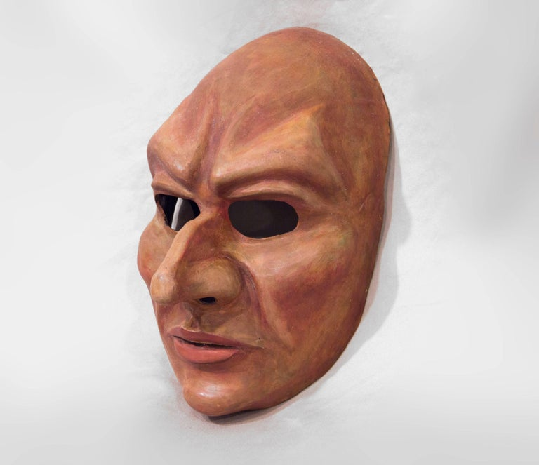 "Inspired by the concept of an ""Evil Priest"", this piece is sure to provoke and terrify. This mask is wearable art, making it perfect for a masquerade, costume party, Halloween, or as a beautiful shelf or wall piece. The neoprene is"