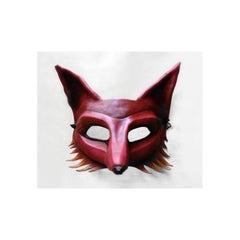 Fiery Leather Fox Mask