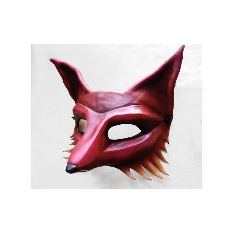 American Fiery Leather Fox Mask For Sale