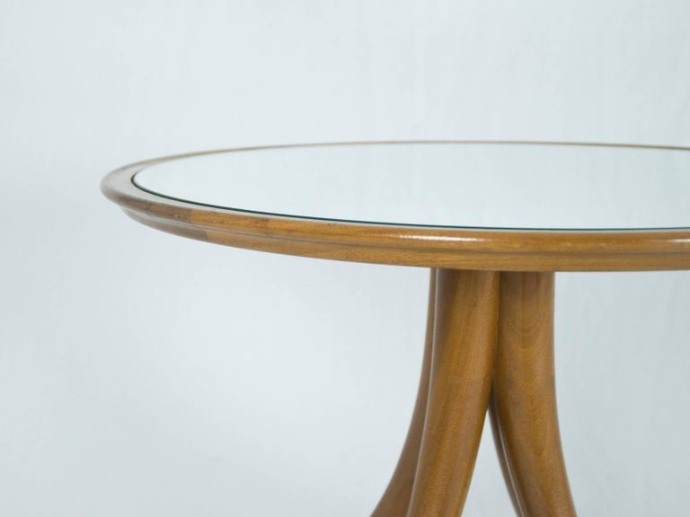 Mirrored wood coffee table by pietro chiesa for fontana for Mirror and wood coffee table