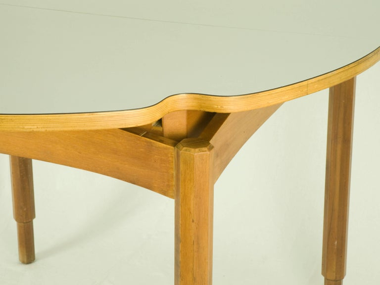 Italian wood and laminate 1960s extensible dining table for Dining table extensible