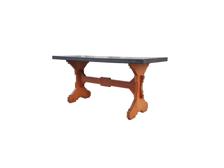 """Wood and Skai Italian """"Fratino"""" Dining Table from 1950s In Excellent Condition For Sale In Varese, IT"""