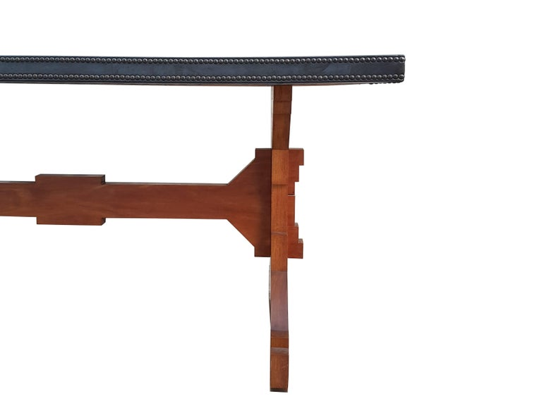 """Mid-20th Century Wood and Skai Italian """"Fratino"""" Dining Table from 1950s For Sale"""