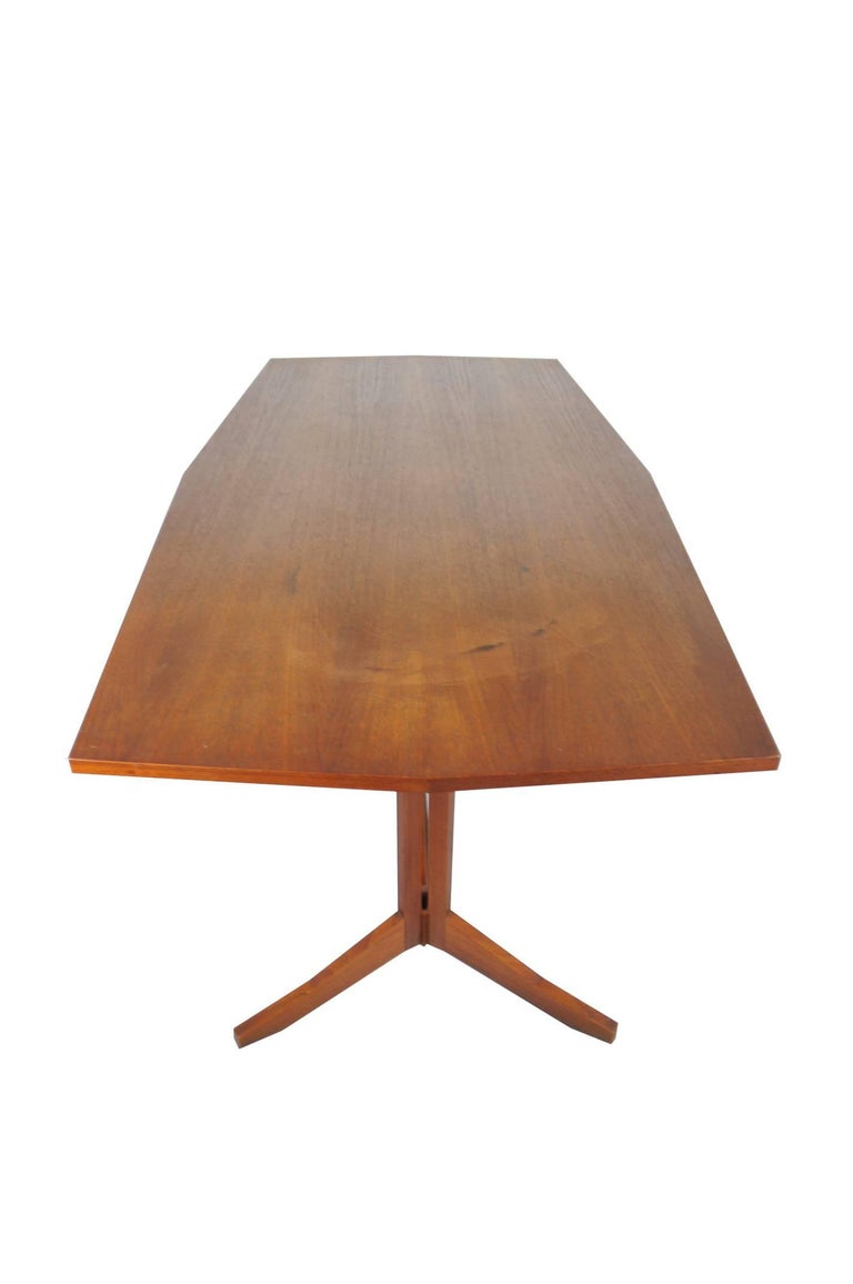 Mid-Century Modern Rosewood TL14 Italian Dining Table by Poggi, 1958 For Sale