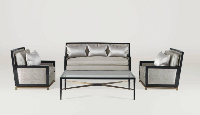 Stained Bronze Sofa V For Sale