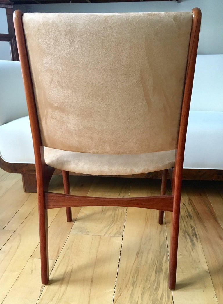 Set of Five Danish Modern Rosewood Chairs For Sale 1