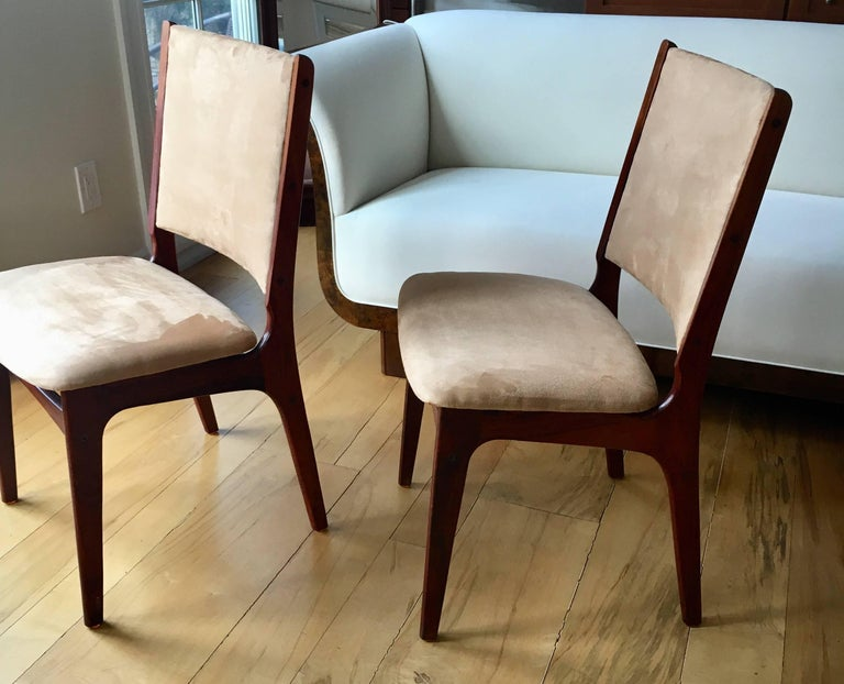 Set of Five Danish Modern Rosewood Chairs For Sale 3