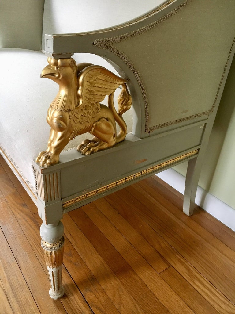 Swedish Late Gustavian Neoclassical Style Suite In Fair Condition For Sale In Briarcliff, NY