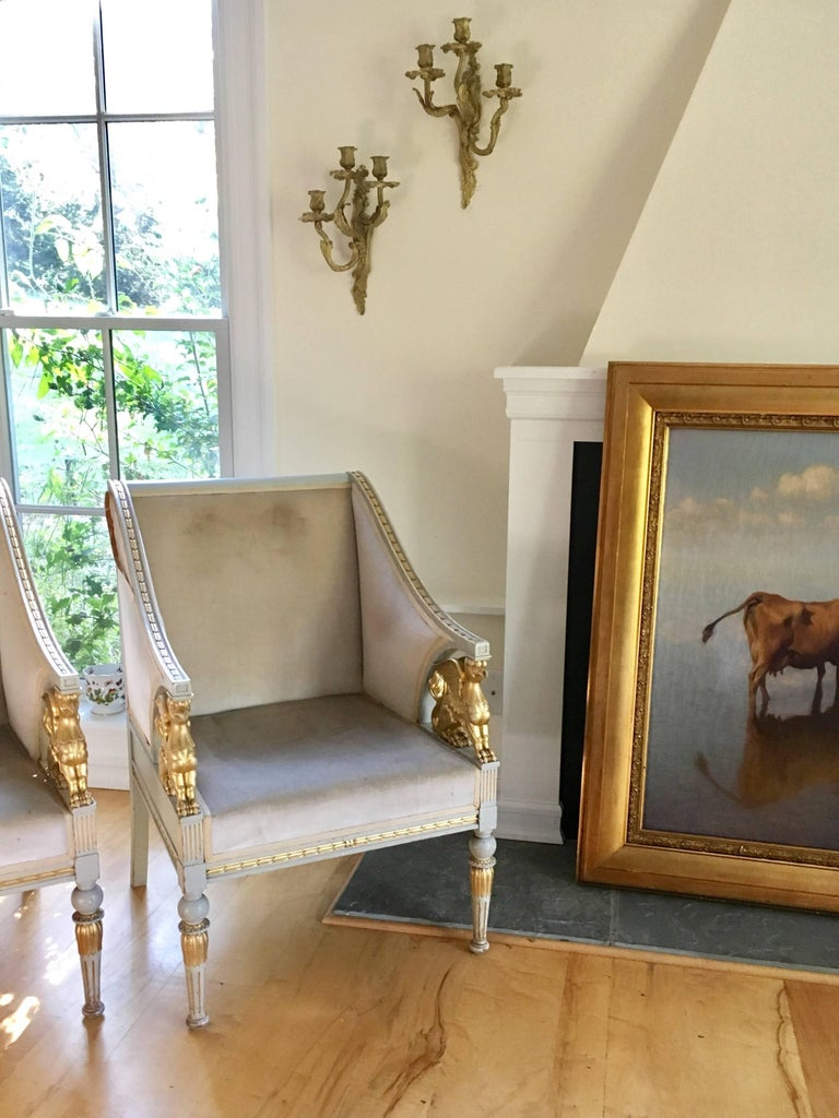 Swedish Late Gustavian Neoclassical Style Suite For Sale 1