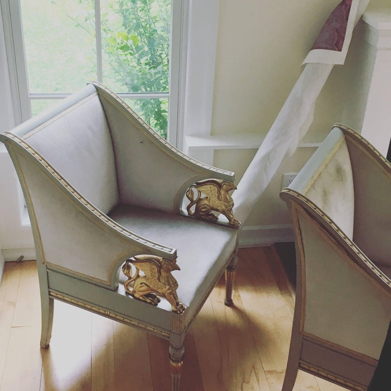 Swedish Late Gustavian Neoclassical Style Suite For Sale 3