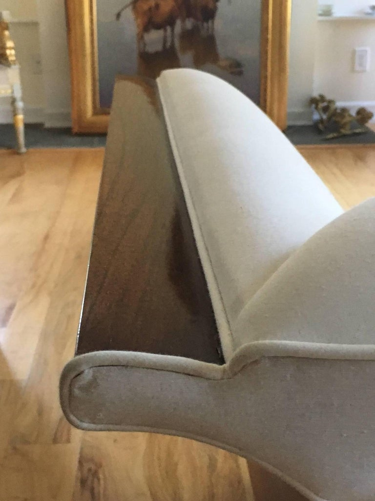 Walnut Danish Art Deco Sofa For Sale