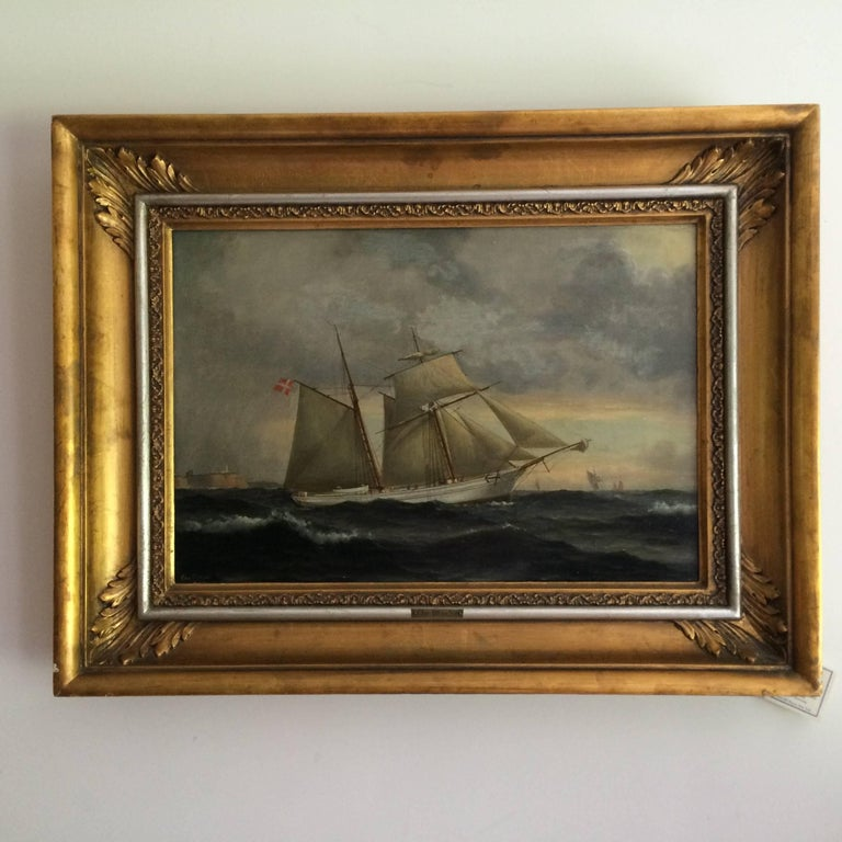 Rare and beautifully executed 'ship portrait' of the schooner