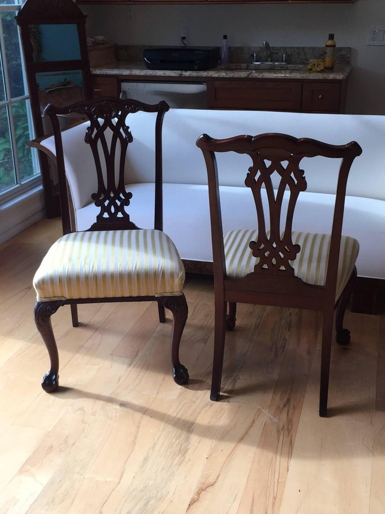 19th Century Danish Chippendale Style Side Chairs For Sale 3