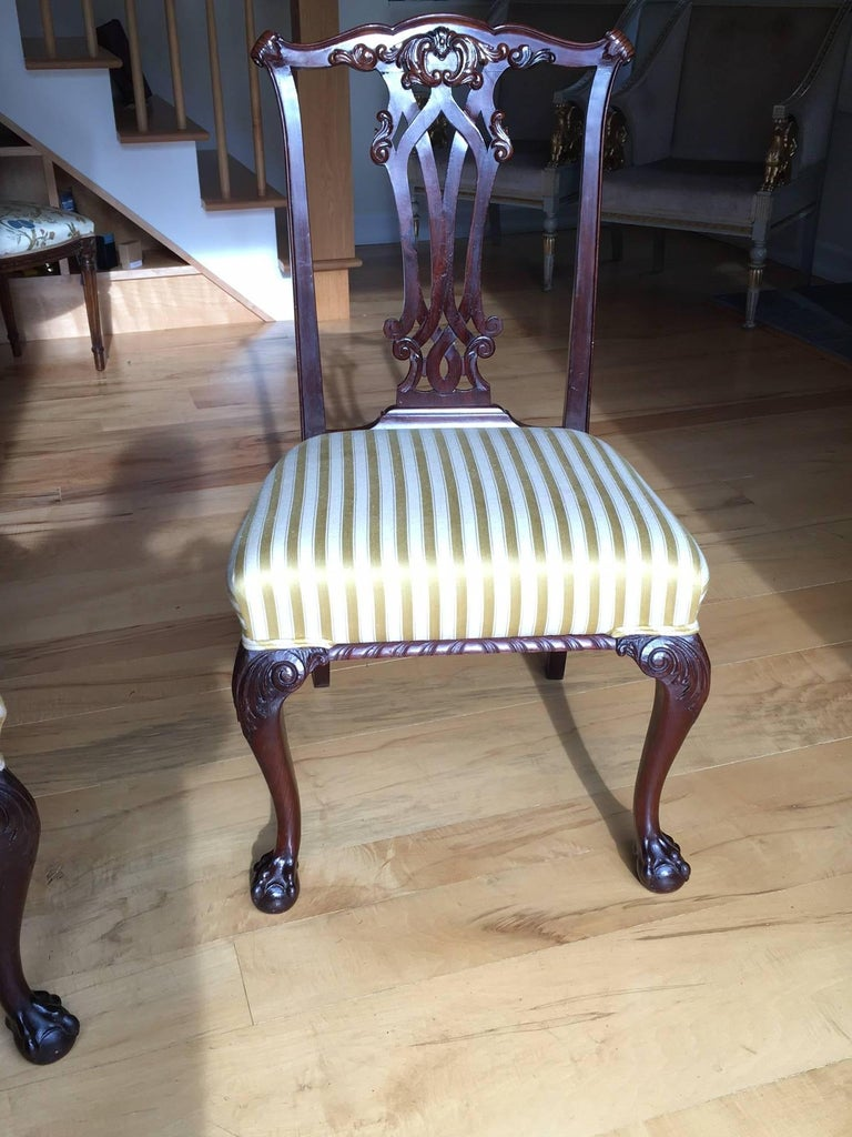 19th Century Danish Chippendale Style Side Chairs For Sale 5