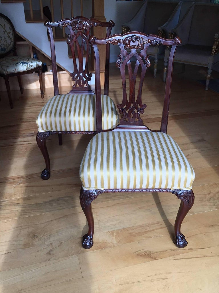 19th Century Danish Chippendale Style Side Chairs For Sale 6